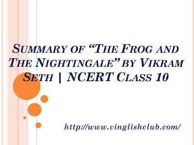 Summary-of-The-Frog-and-The-Nightingale-by-Vikram-Seth