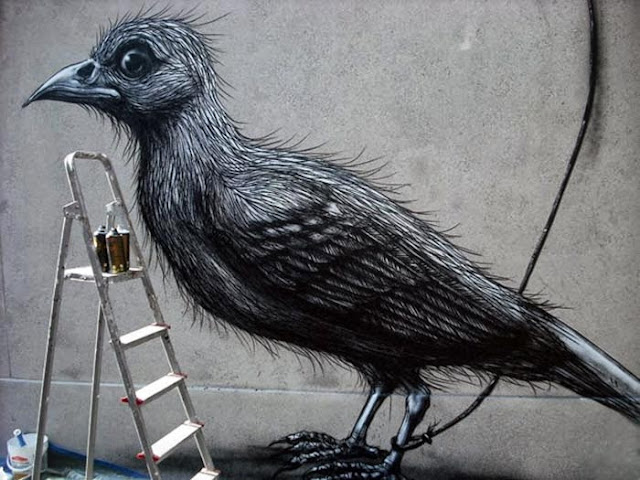 Street Art By Belgian Painter ROA For Lecco Street Art View '13 In Italy. 5