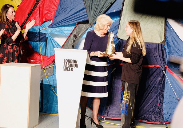 The Duchess presents the Queen Elizabeth II Award for Design, on behalf of The Queen, to designer Bethany Williams
