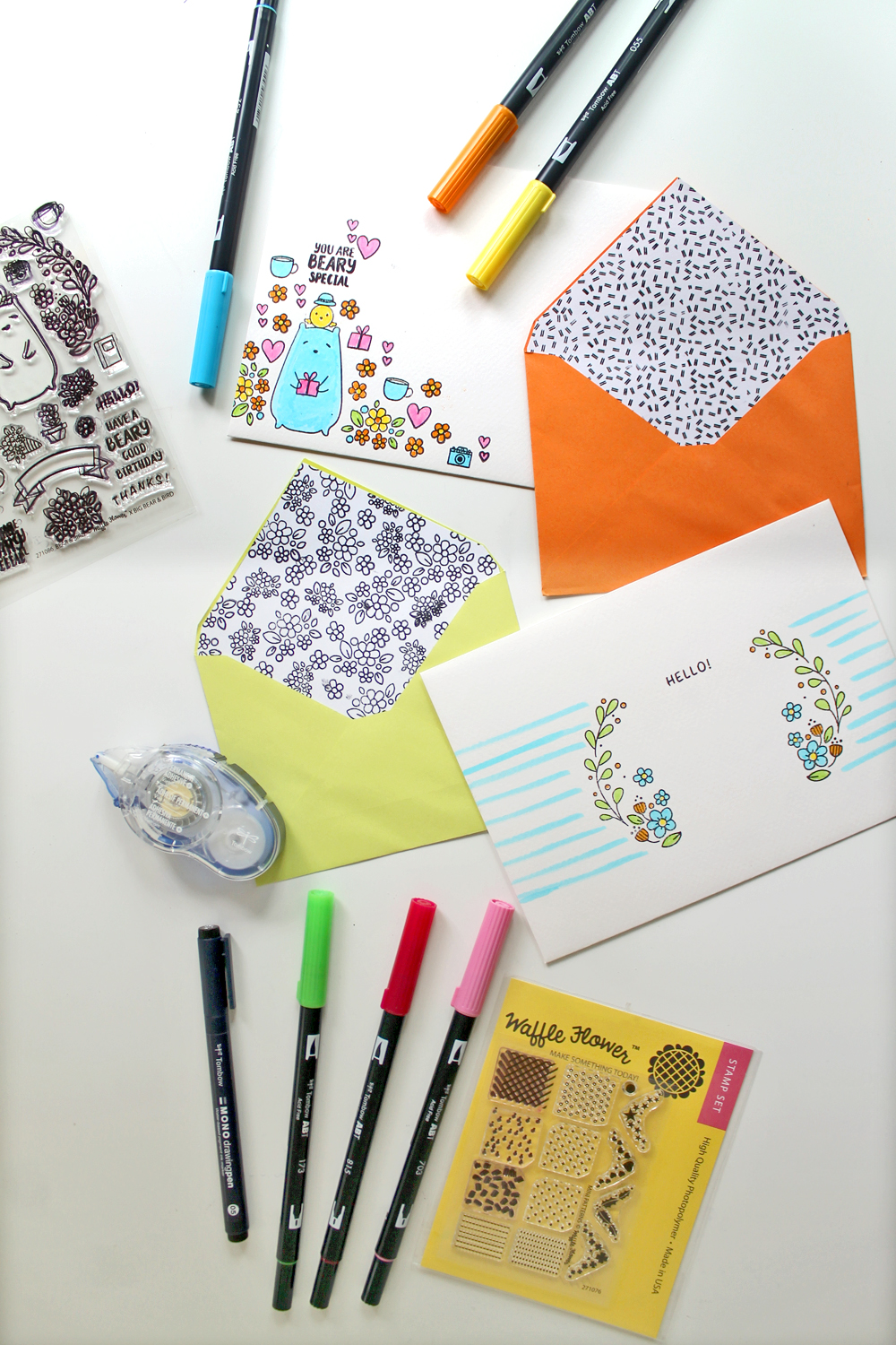 DIY Stamped Stationary