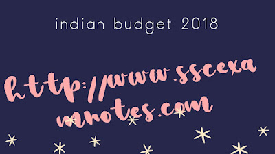 indian budget 2018