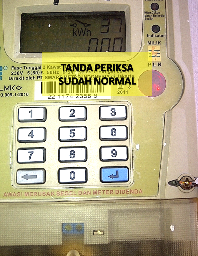 Meteran Listrik Tulisan Periksa : meteran, listrik, tulisan, periksa, Pesan, Error,