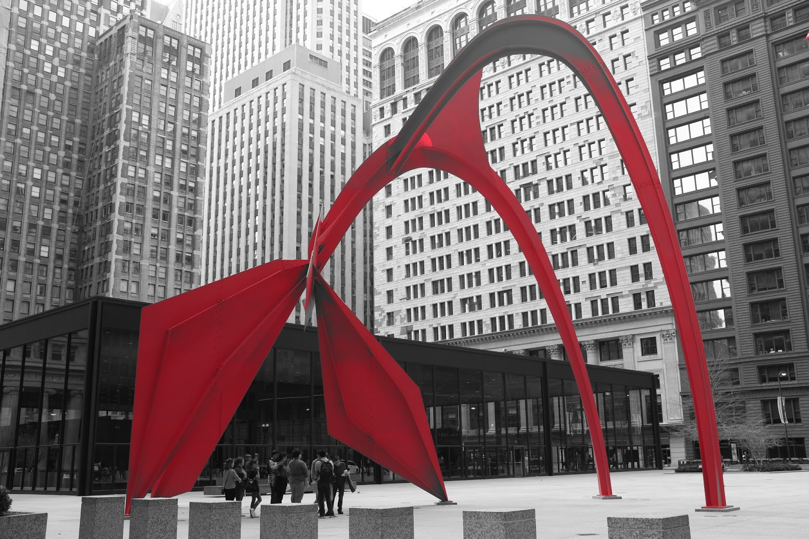 Le Chameau Bleu - Blog Voyage Chicago USA - Visite de Chicago et  Le Flamingo de Calder