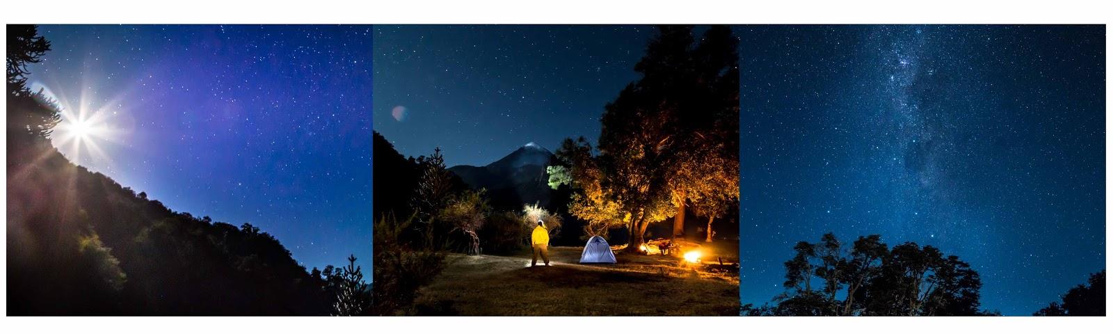 Patagonia Norte Safari Fotográfico y workshop por Alejo Sánchez, fotografía nocturna, photo travel, Volcán Lanín, Parque Nacional Lanín, estrellas,