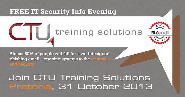 Free IT Security Info Evening at CTU Pretoria | CTU Training