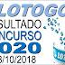 Resultado da Lotogol concurso 1020 (08/10/2018) ACUMULOU!!!