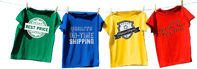 Custom printed buusiness t-shirts