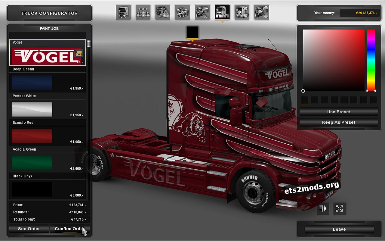 Vogel Skin for Scania T