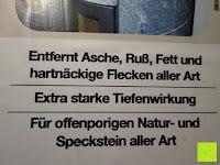 Steinofen-Reiniger Eigenschaft: Naturstein und Specksteinofen-Pflegeset 4 tlg.