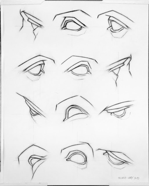 How to Draw a Face - 25 Step by Step Drawings and Video Tutorials - eye chart template