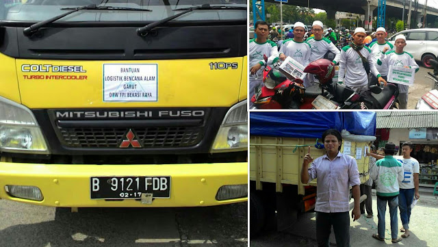 Dpw fpi bekasi kirim bantuan untuk korban bencana garut