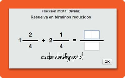 División de fracciones mixtas.