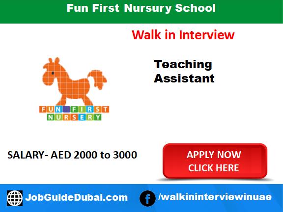 Fun First Nursery School career for teaching assistant jobs in Dubai