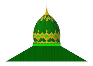 gambar desain atap limasan miring spandek masjid ilaga puncak papua