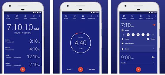 أفضل تطبيقات تساعد على تنظيم الوقت للدراسة للأندرويد - تطبيق Google Clock