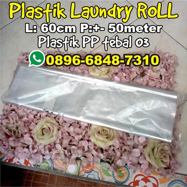 plastik laundry roll 60cm 50meter