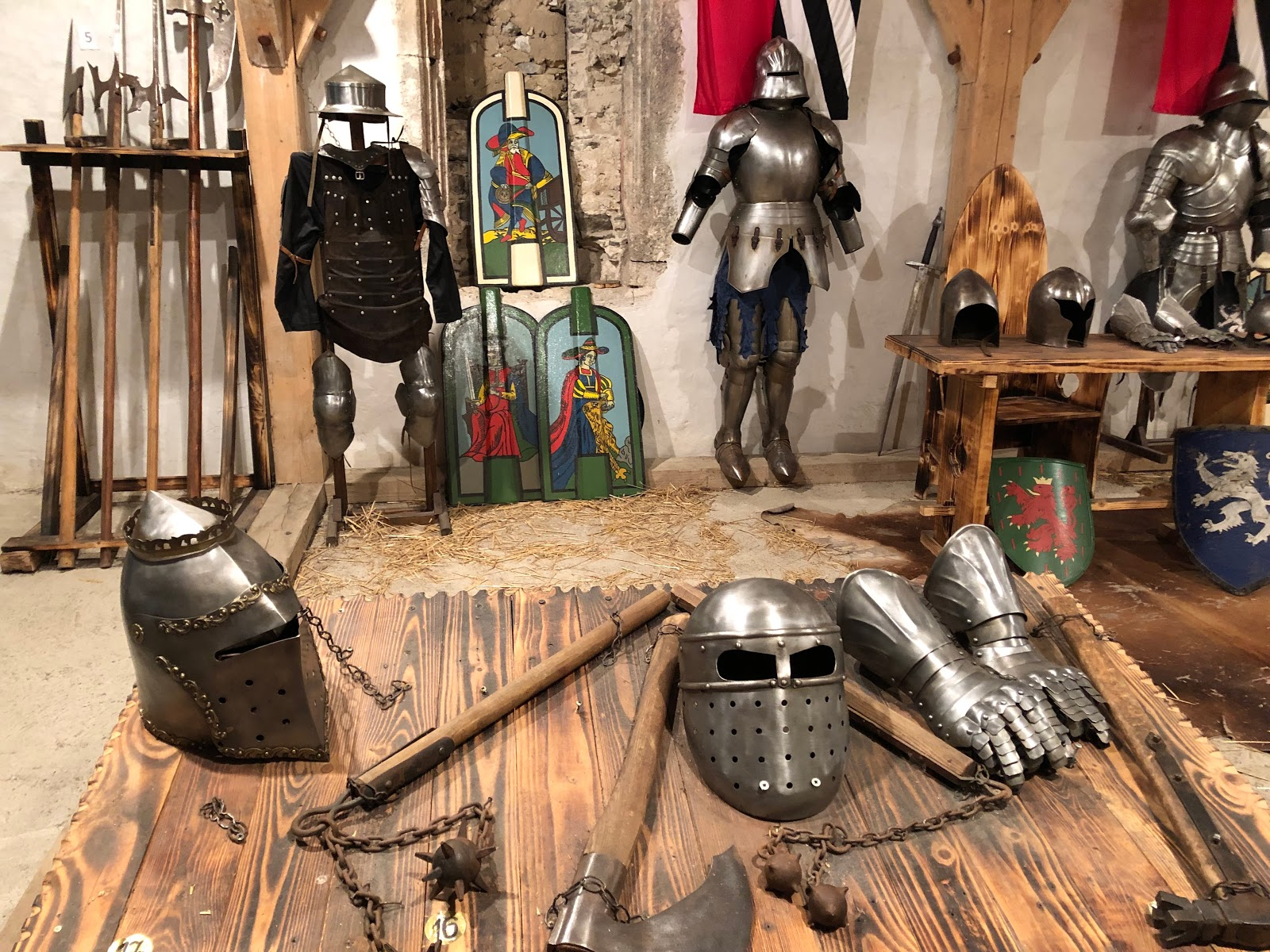 Weapons and Armors of the Knights in Predjama Castle
