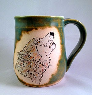 Wolf Mug by Lori Buff