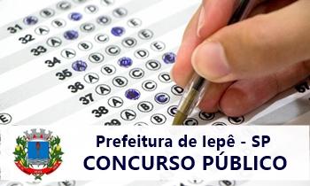 Concurso da Prefeitura de Iepê - SP