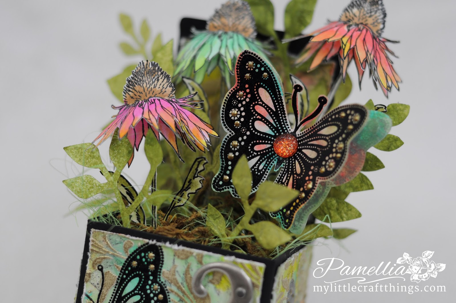I Am Entering My Tim Holtz Flower Garden Box Into The Following Wonderful Challenges