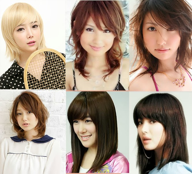 Model+rambut+sebahu+wanita+korea