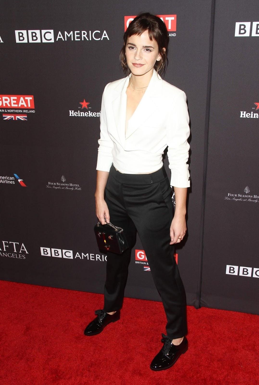 Emma Watson new haircut at The BAFTA Los Angeles Tea Party