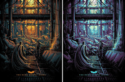 The Dark Knight Rises Screen Print by Dan Mumford x Bottleneck Gallery