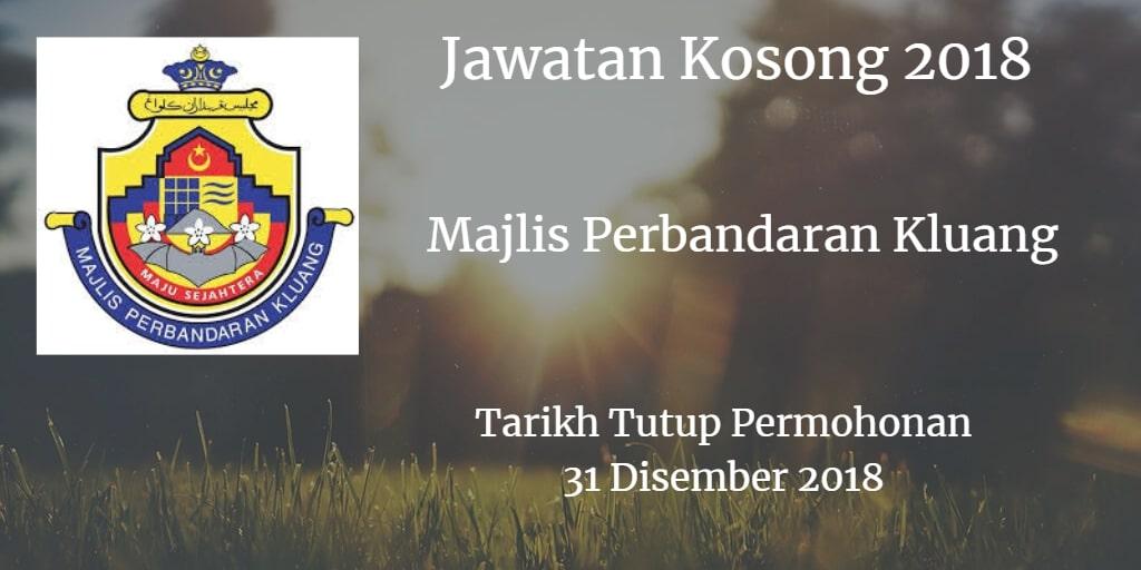 Jawatan Kosong MPK 31 Disember 2018