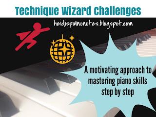 Beginning Piano Technique Wizard Challenges heidispianonotes.blogspot.com, a organized piano teaching technique curriculum