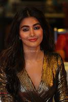 Pooja Hegde looks glamarous in deep neck sleevless short tight golden gown at Duvvada Jagannadham thank you meet function 172.JPG