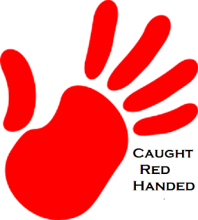 Meaning and Sentence of the idiom 'Caught Red Handed'