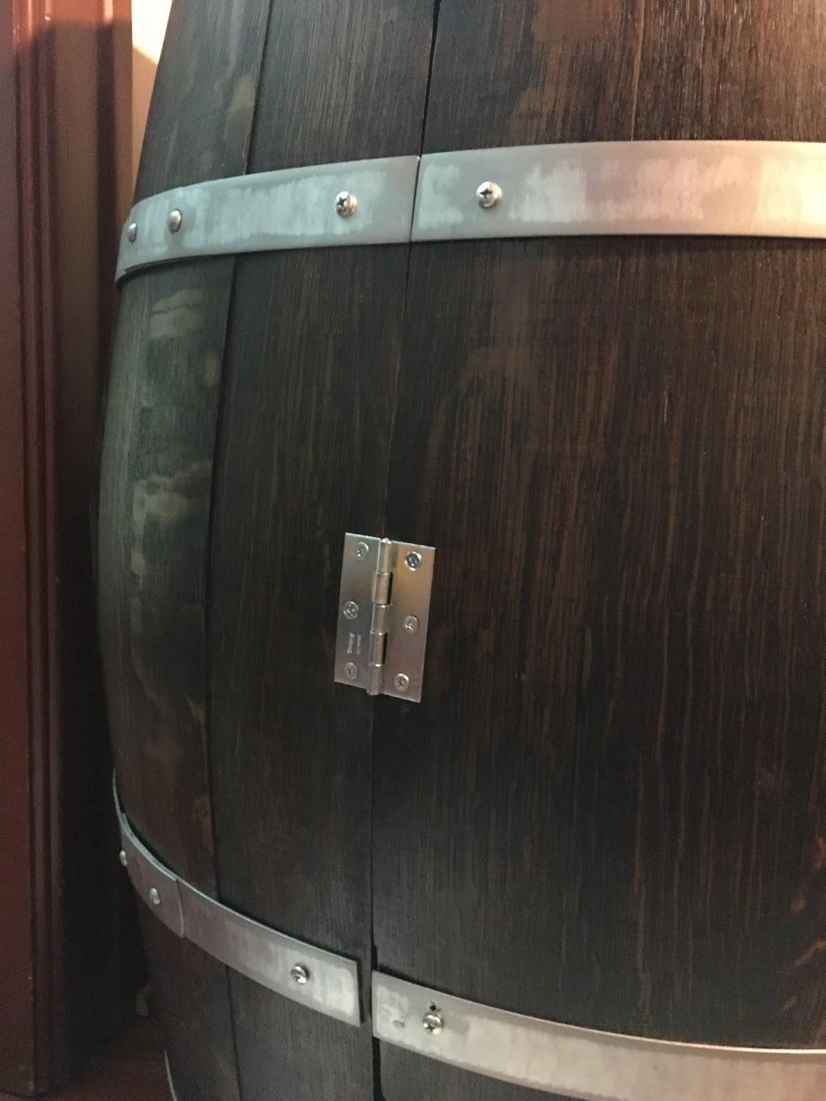 Wine barrel liquor cabinet or the neverending project