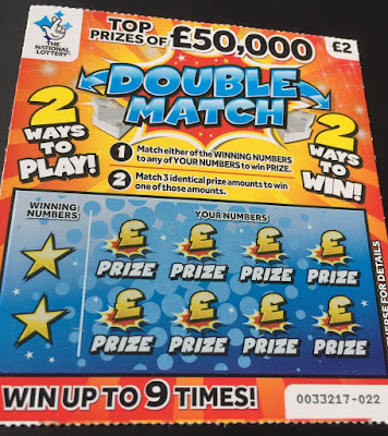 £2 Double Match Scratch Card