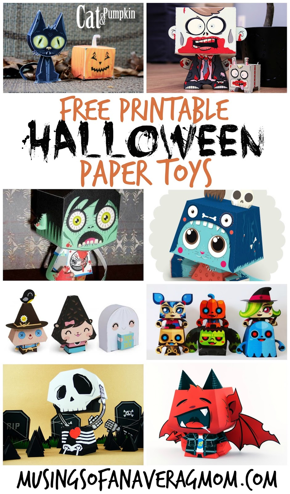graphic regarding Printable Halloween Paper referred to as Musings of an Typical Mother: Halloween Paper Crafts