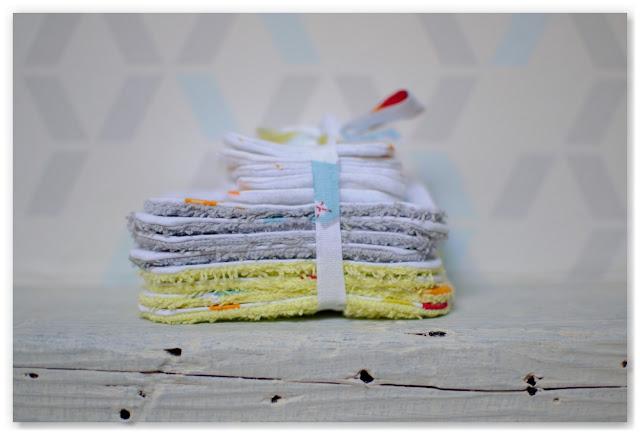 lingettes bébé réutilisables en éponge et tissu polaire cadeau de naissance