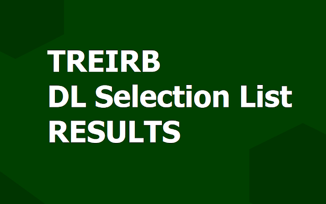 TREIRB DL Selection list Results 2019 (Degree Lecturers Final Results) Released