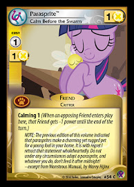 My Little Pony Parasprite, Calm Before the Swarm Marks in Time CCG Card