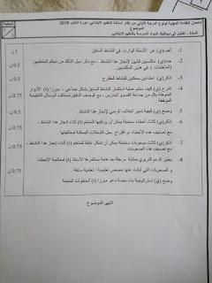 الامتحان المهني لولوج الدرجة الأولى - التعليم الابتدائي - دورة شتنبر 2018 جميع المواد