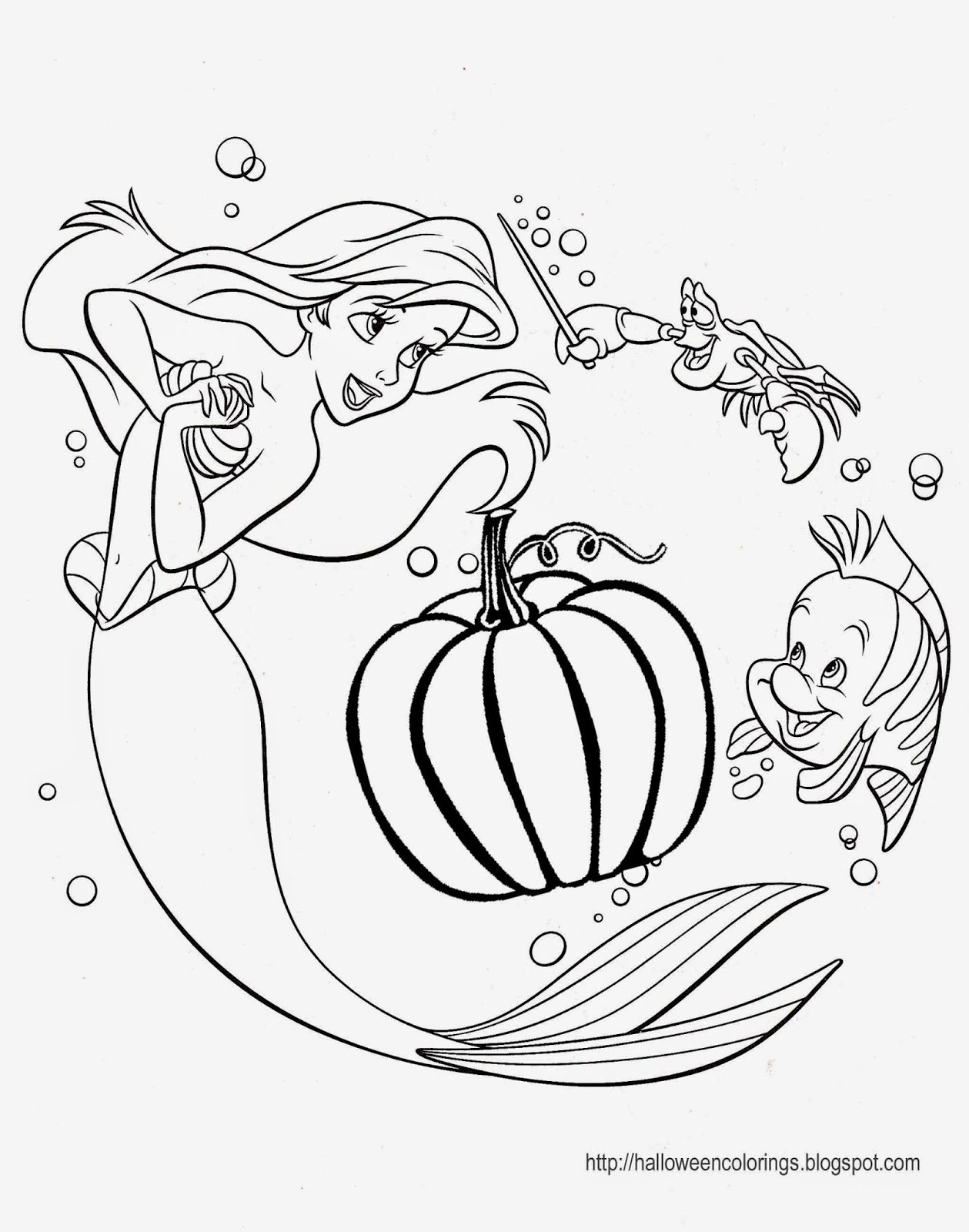 DISNEY COLORING PAGES: HALLOWEEN COLORING PAGES