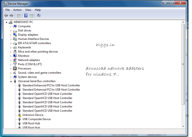 Windows 7 Network Adapters ( Lan Drivers ) download 32 and 64 bit