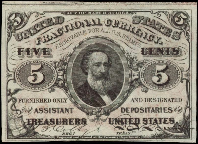 Fractional Currency 5 Cents Spencer Clark