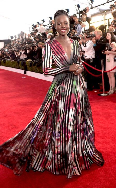 Lupita Nyong'o in Elie Saab at the SAG Awards 2015