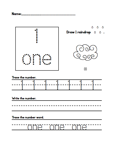 Number Names Worksheets : tracing numbers for kindergarten ~ Free ...