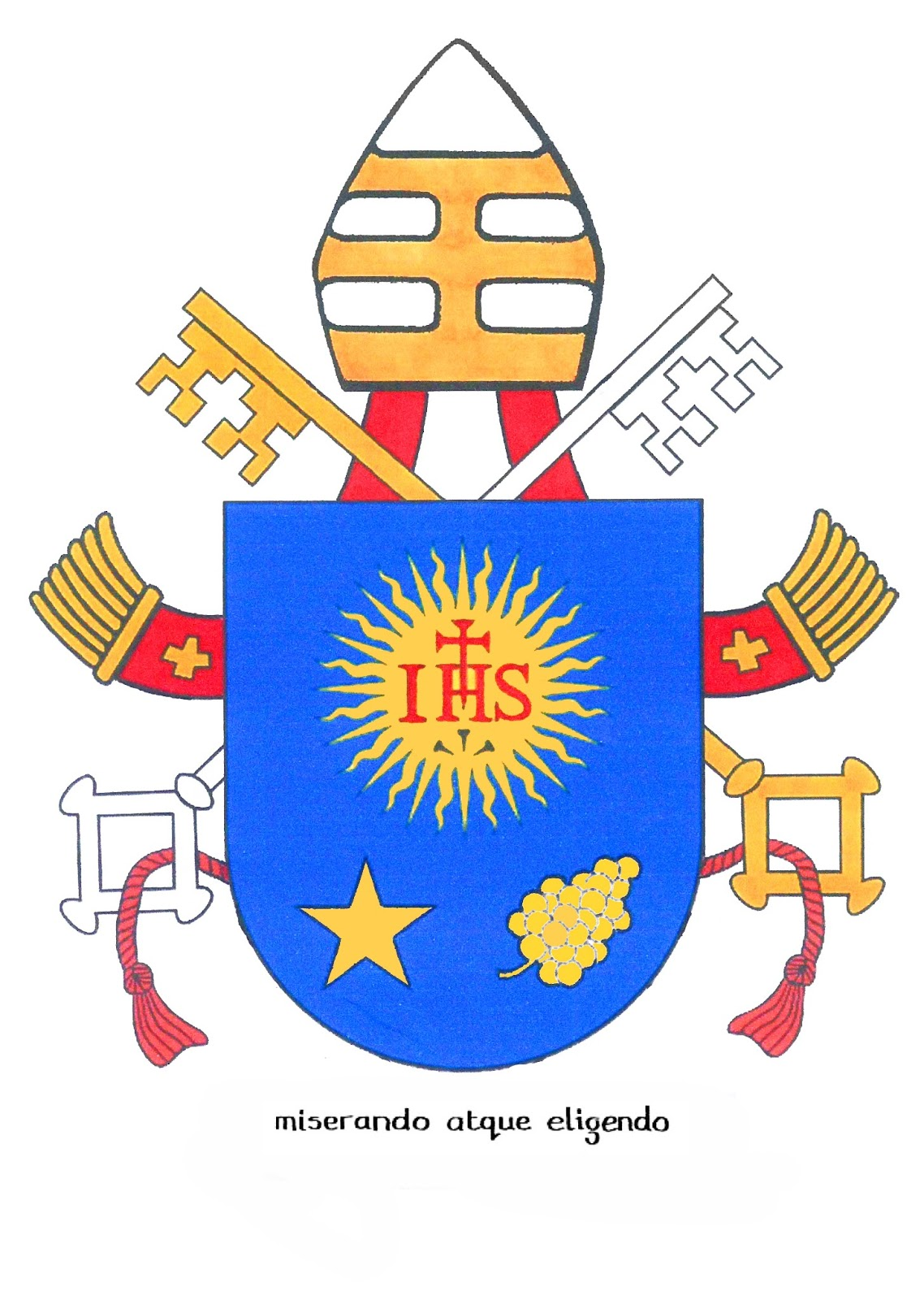 Rorate Cli Coat Of Arms Jesus Mary Joseph