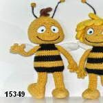 patron gratis abeja Willy amigurumi, free amiguru pattern Willy bee