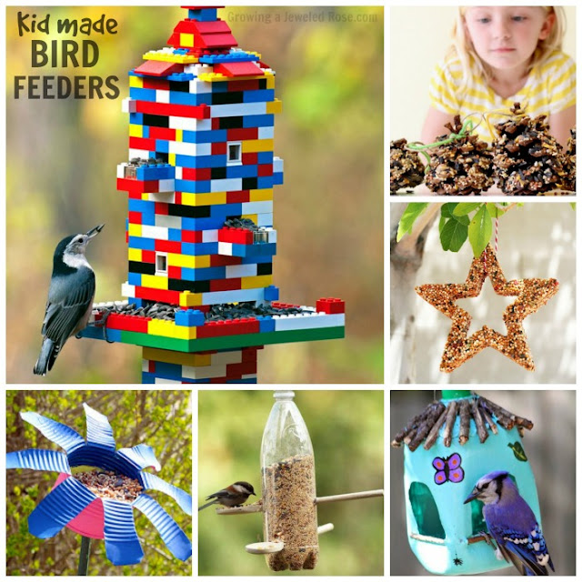 BIRD FEEDER CRAFTS FOR KIDS #artsandcraftsforkids #craftsforkids #birdfeeders