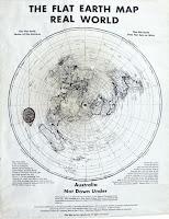 Afiche terraplanista de Charles K. Johnson