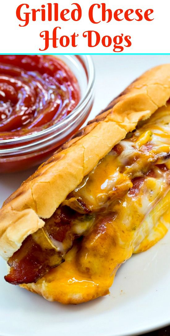 Grilled Cheese Hot Dogs