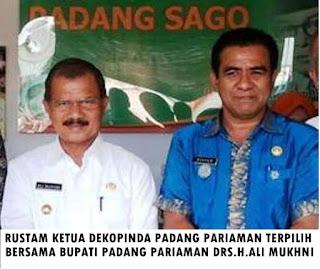 Rustam SE, MM, Akhirnya Terpilih Menjadi Ketua Dekopinda Padang Pariaman
