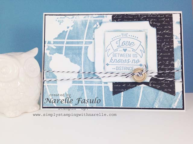 Going Global Stamp Set- World Traveler Embossing Folder - Going Places DSP - Simply Stamping with Narelle - available here - http://www3.stampinup.com/ECWeb/default.aspx?dbwsdemoid=4008228